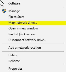 how to map nas drive in windows 7