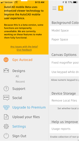 CAD maps not loading on AutoCAD 360 iOS app – Service Desk Support