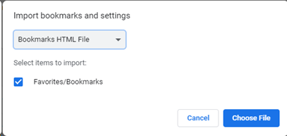 Chrome - Importing & Exporting Bookmarks – Service Desk Support Center