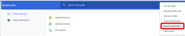 Chrome - Importing & Exporting Bookmarks – Service Desk